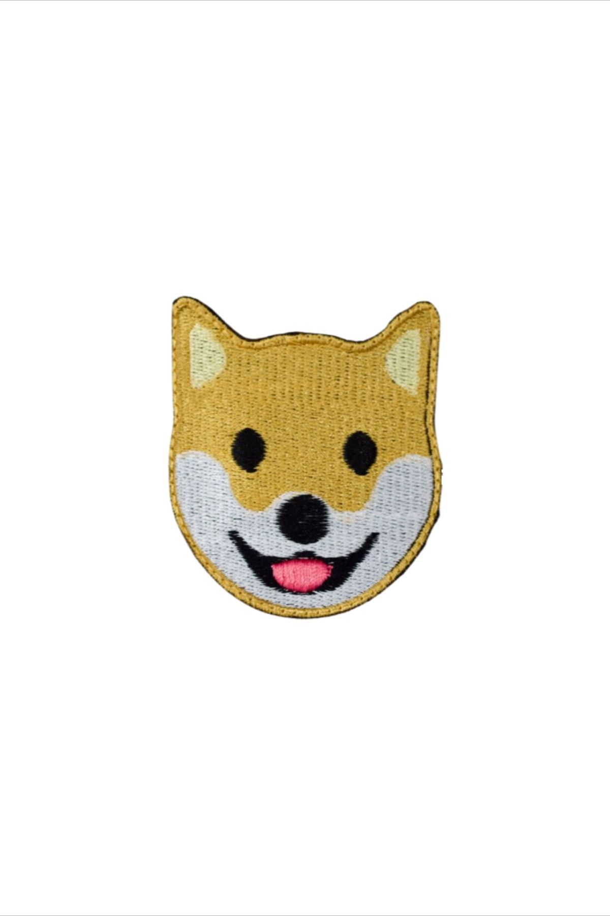 Dog Face Emoji Patches For Jackets Jeans Hats And Pans Made With Ecological And Recycled Threads In 2020 Embroidered Patches Dog Patch Emoji Patch