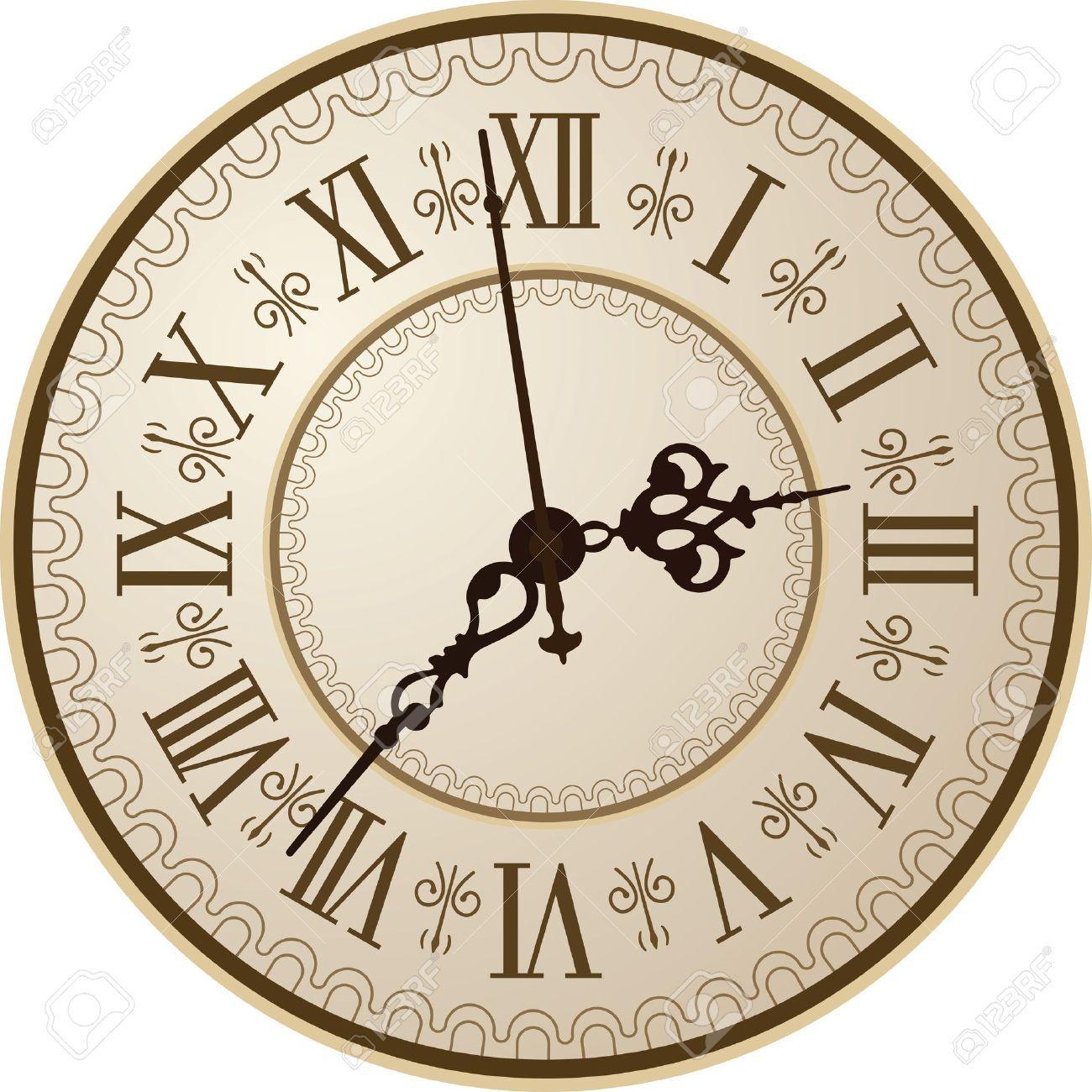 13373732 antique clock vector illustration clock faces pinterest pocket watch and. Black Bedroom Furniture Sets. Home Design Ideas
