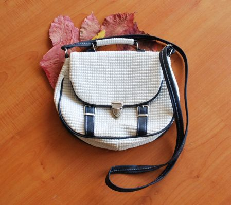 Photo of Navy Blue-White Circle Shoulder Bag-26 TL www.opuspocusbuti …