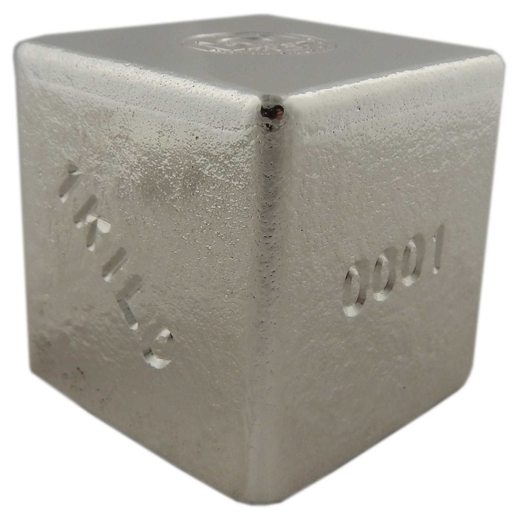 Hand Poured 1 Kilo Silver Bar Cube 999 Fine Silver By Shinybars Silver Bars Hand Poured Fine Silver