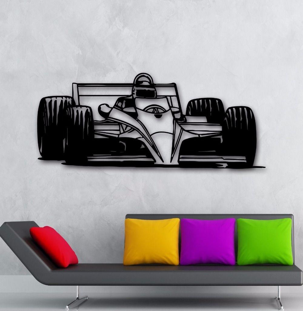 2016 New Fashion Race Car Auto Racing Sport Wall Vinyl Sticker Garage Decor For Man Cave Livingroom Bedroom Free Ship Car Decals Vinyl Garage Decor Sports Wall [ 1026 x 1000 Pixel ]