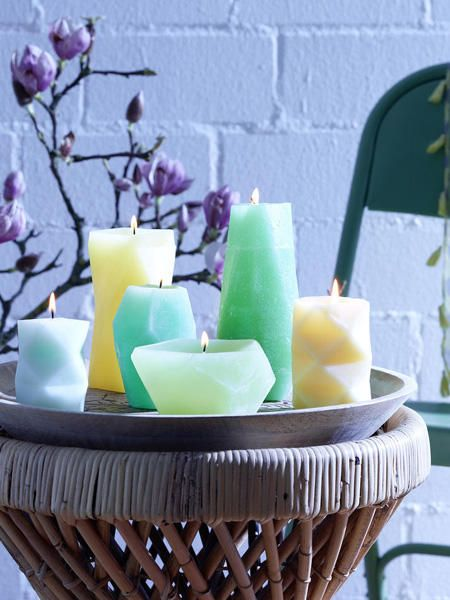 Mit Anleitung Basteln Sie Geometrische Kerzen Honey Kerzen