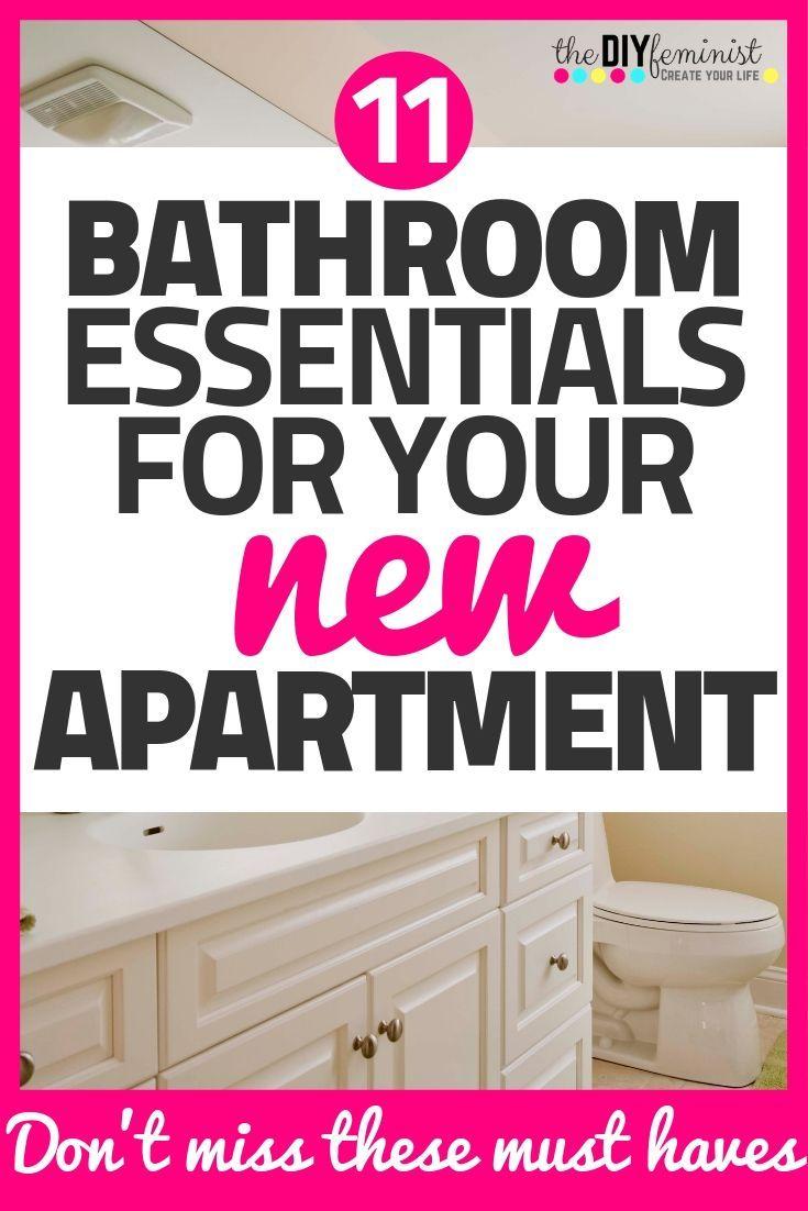 11 New Apartment Bathroom Essentials | Bathroom essentials ...