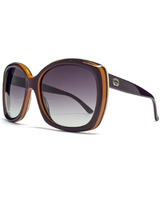 4b942a9222b Every glamour-puss should covet a pair of these Gucci Sunglasses 3612 s  Oversize sunglasses in Violet and Orange. These oversize Gucci sunglasses  are a ...