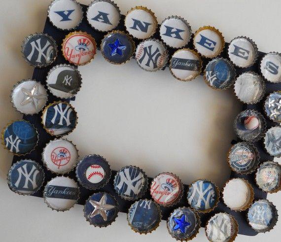 Yankees Bottle Cap Baseball Frame by PictureCaps on Etsy, $19.99 ...