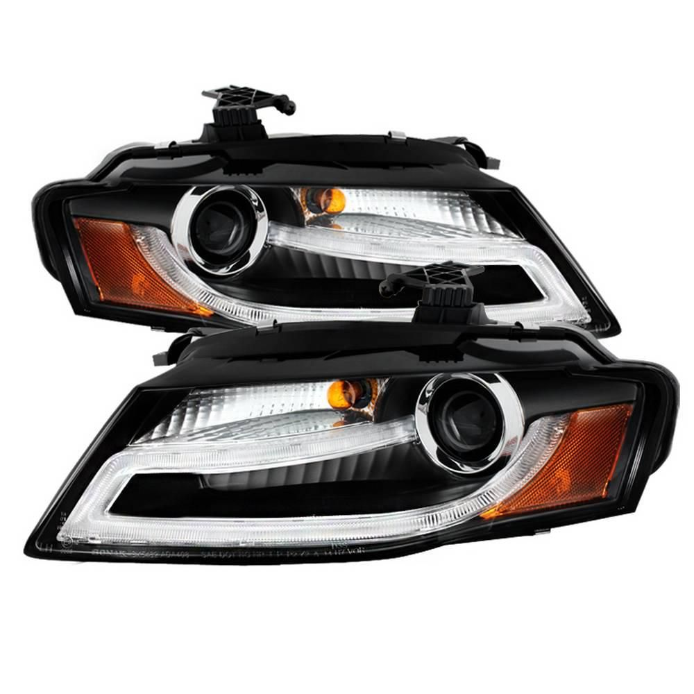 Spyder Auto Audi A4 09 12 Projector Headlights Xenon Hid Model Only Not Compatible With Halogen Model Drl Led Black 5080752 Projector Headlights Audi A4 Audi