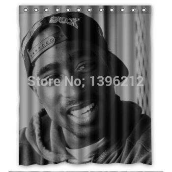 Wonderful 2Pac Tupac Shakur Shower Curtain Excellent Workmanship