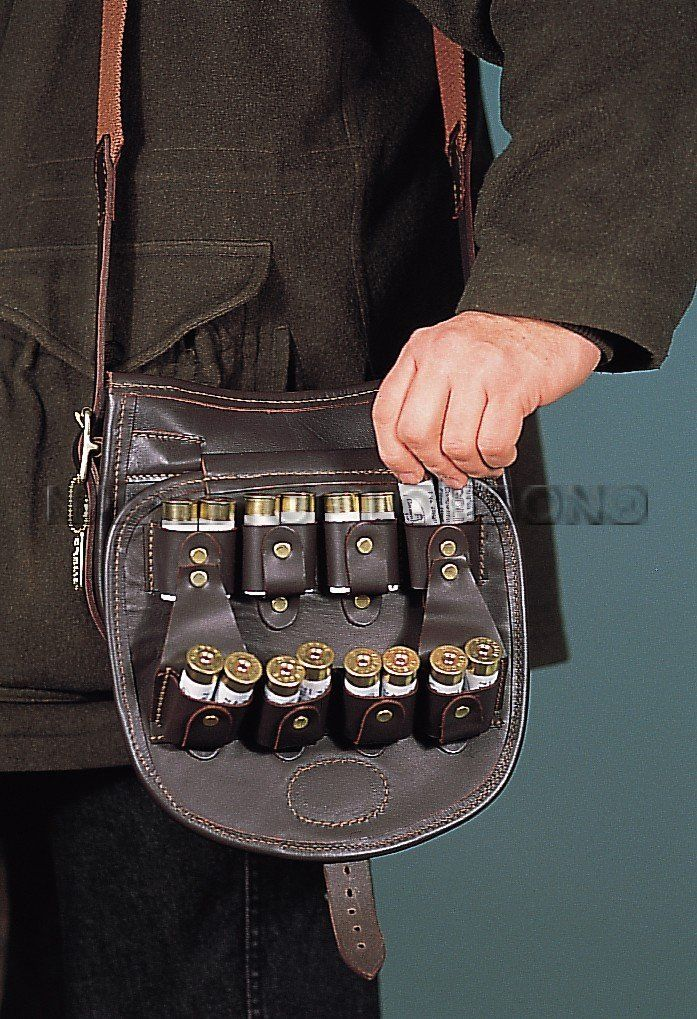 Shotgun Loaders Bag in Leather £260.00 This new design is the last word in  cartridge