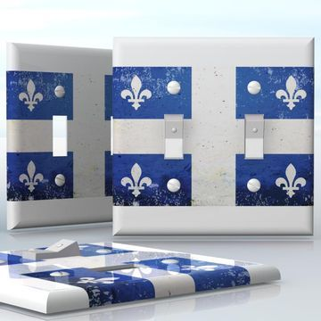 Diy do it yourself home decor easy to apply wall plate wraps diy do it yourself home decor easy to apply wall plate wraps quebec flag fleur de lys blue flag of a canadian province wallplate skin sticker for 2 gang solutioingenieria Gallery