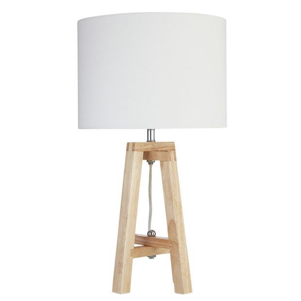 Buy heart of house ketton wood quad table lamp natural at argos co