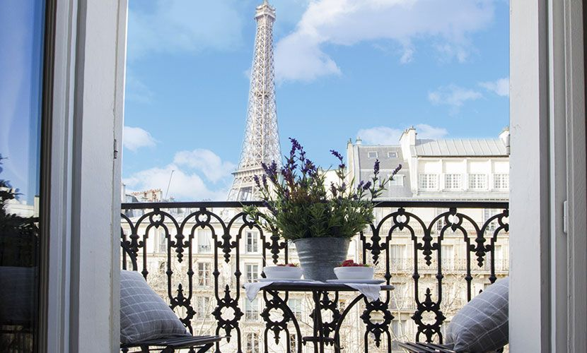 Unforgettable Eiffel Tower Views From The Beautiful Cabernet Apartment In
