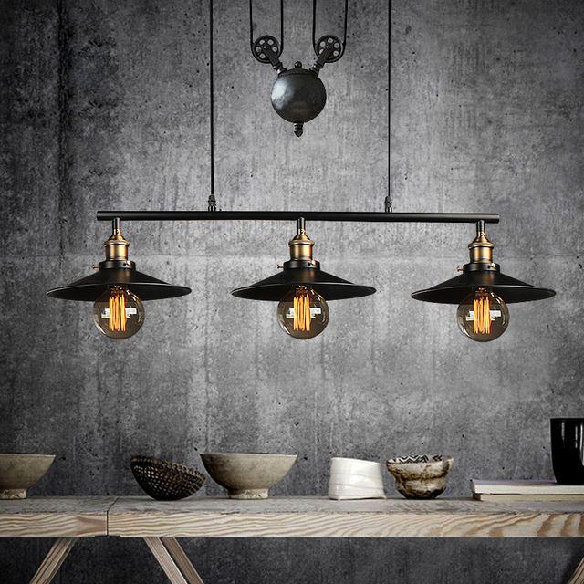 Luz para el dormitorio de la vendimia lámpara colgante industrial ...