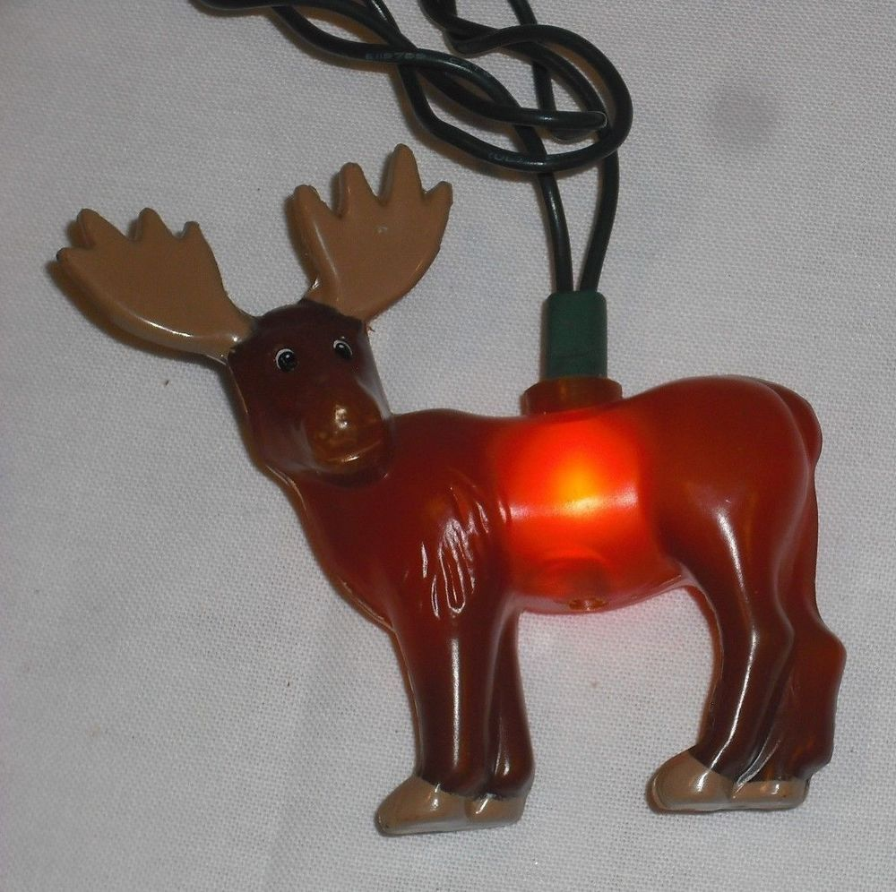 moose christmas light string plastic moose covers works indoor outdoor ul listed