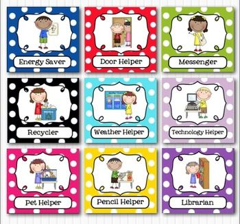 image relating to Free Printable Preschool Job Chart Pictures known as Editable Clroom Employment Helpers - Youngsters Brilliant Multicolored