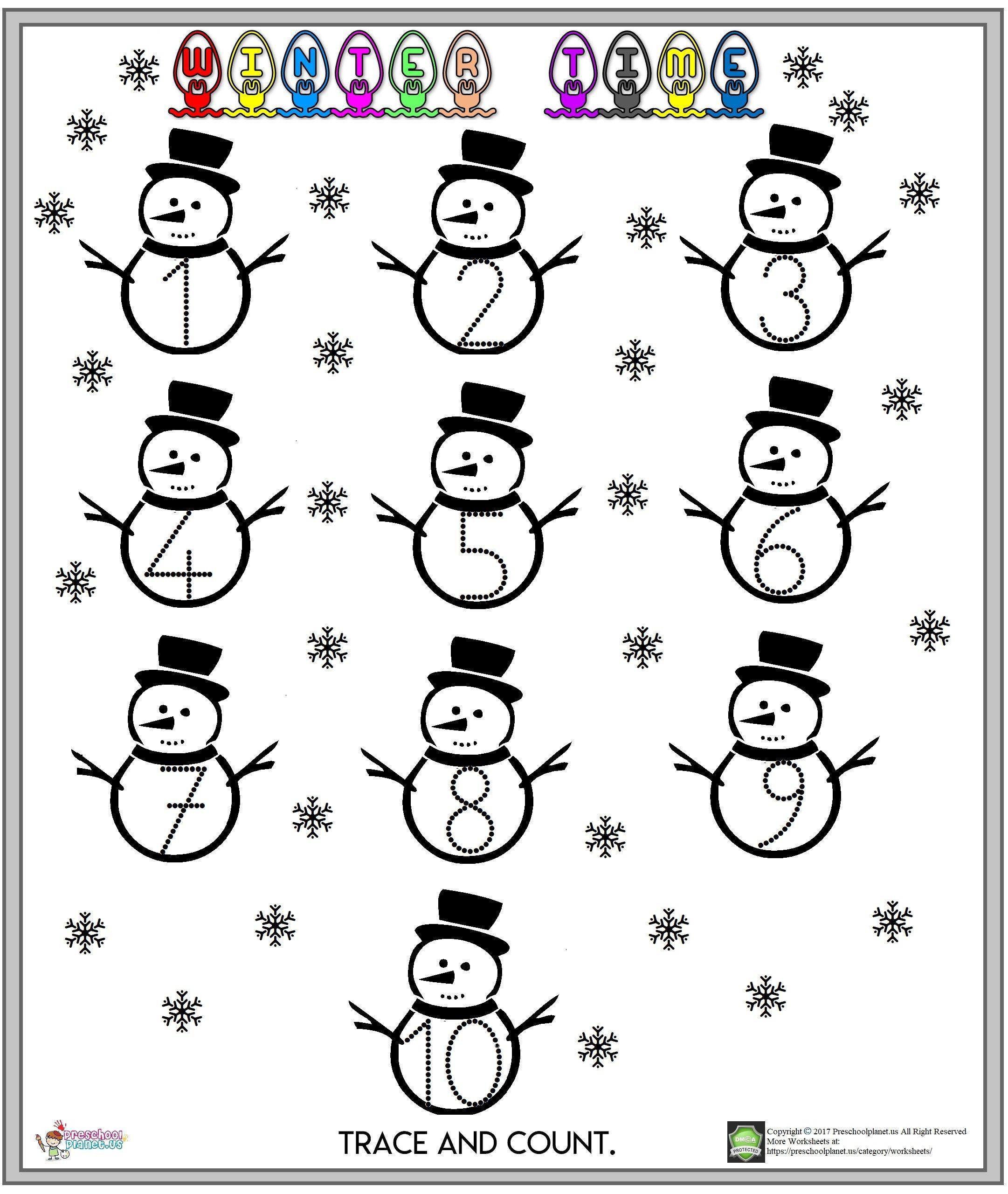 Winter Number Worksheet Number Worksheets Worksheets For Kids Pre K Worksheets [ 2560 x 2162 Pixel ]