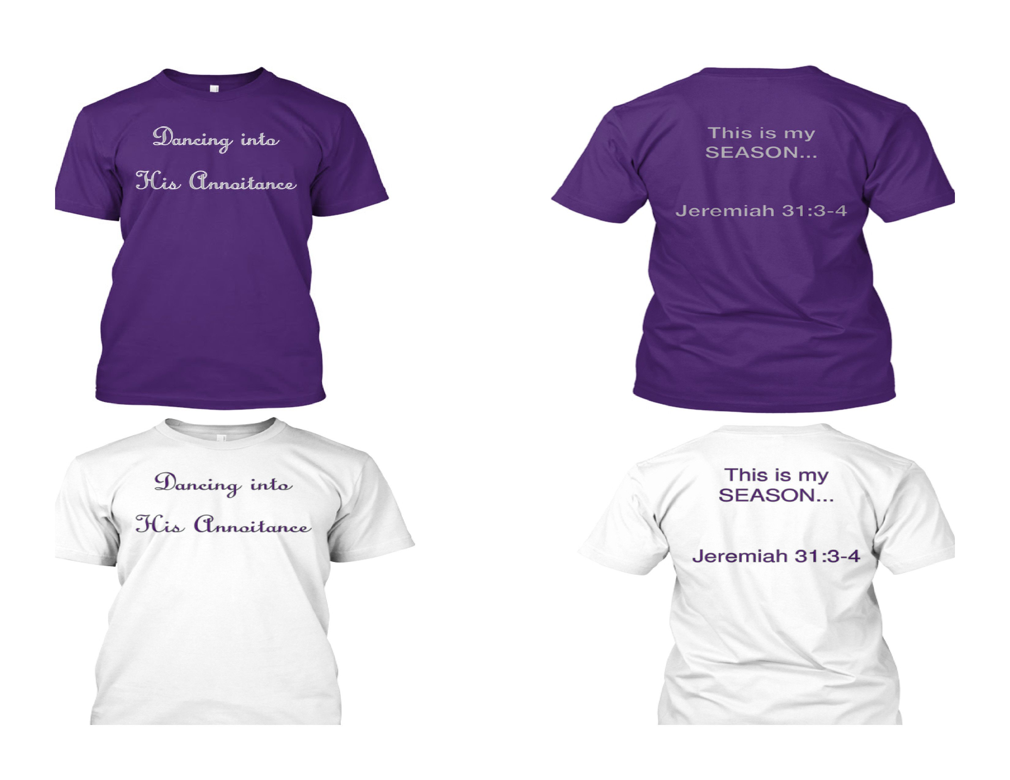 These T Shirts Are Great For Any Church Group Or Individual They Come In Two Colors Purple Or White Their Affordable And C Great T Shirts Shirts Mens Tops