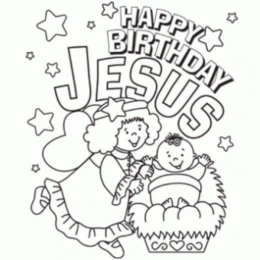Happy Birthday Christmas Coloring Page Free Online Printable Pages Sheets For Kids Get The Latest
