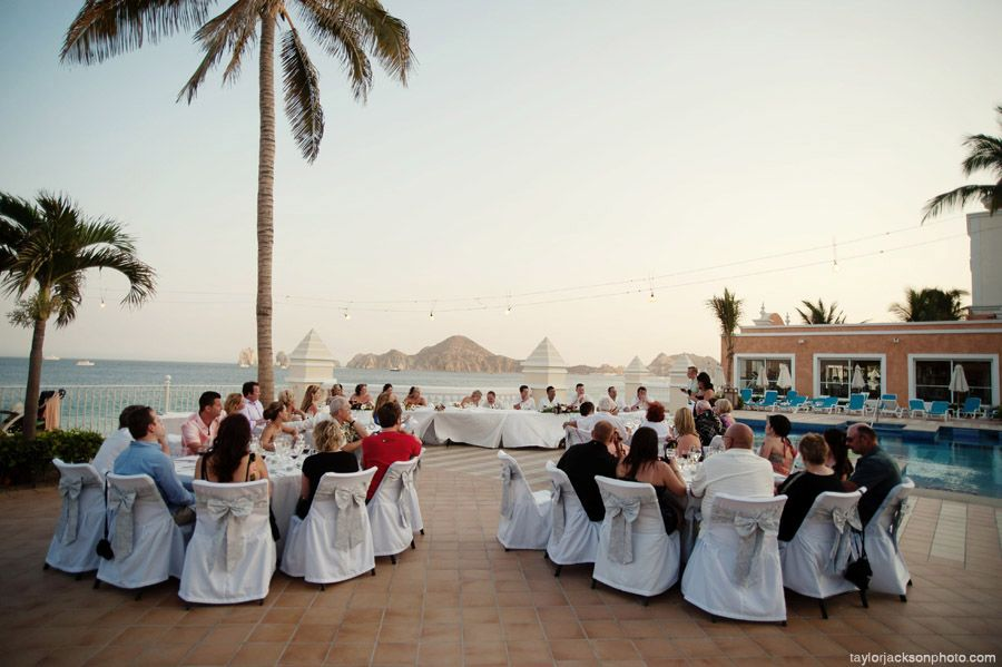 riu palace cabo san lucas wedding on baja norte pool deck