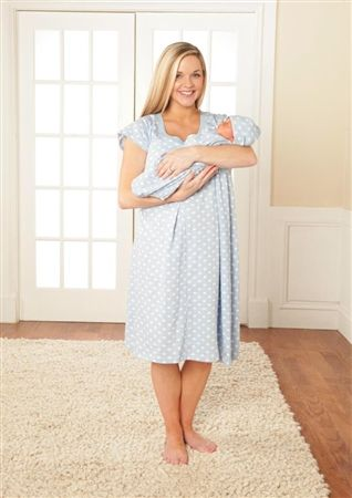 af7f8c6ccdb2d Nicole maternity/nursing nightgown matching baby going home outfit ...