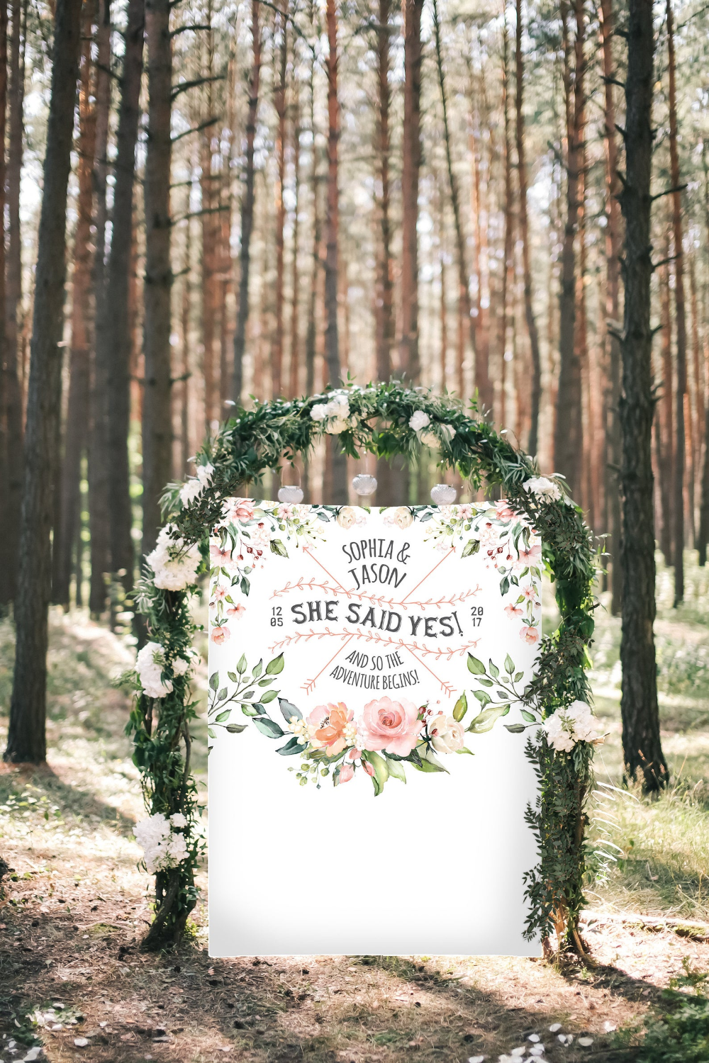 She Said Yes Bridal Shower Poster