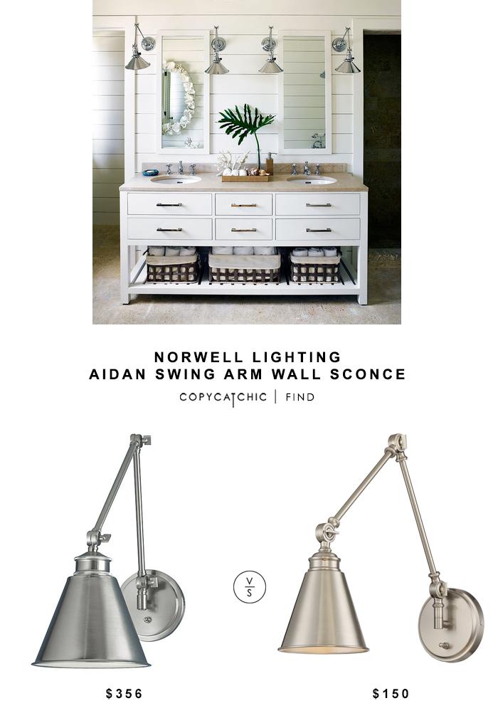 Norwell Lighting Aidan Swing Arm Wall Sconce Copycatchic