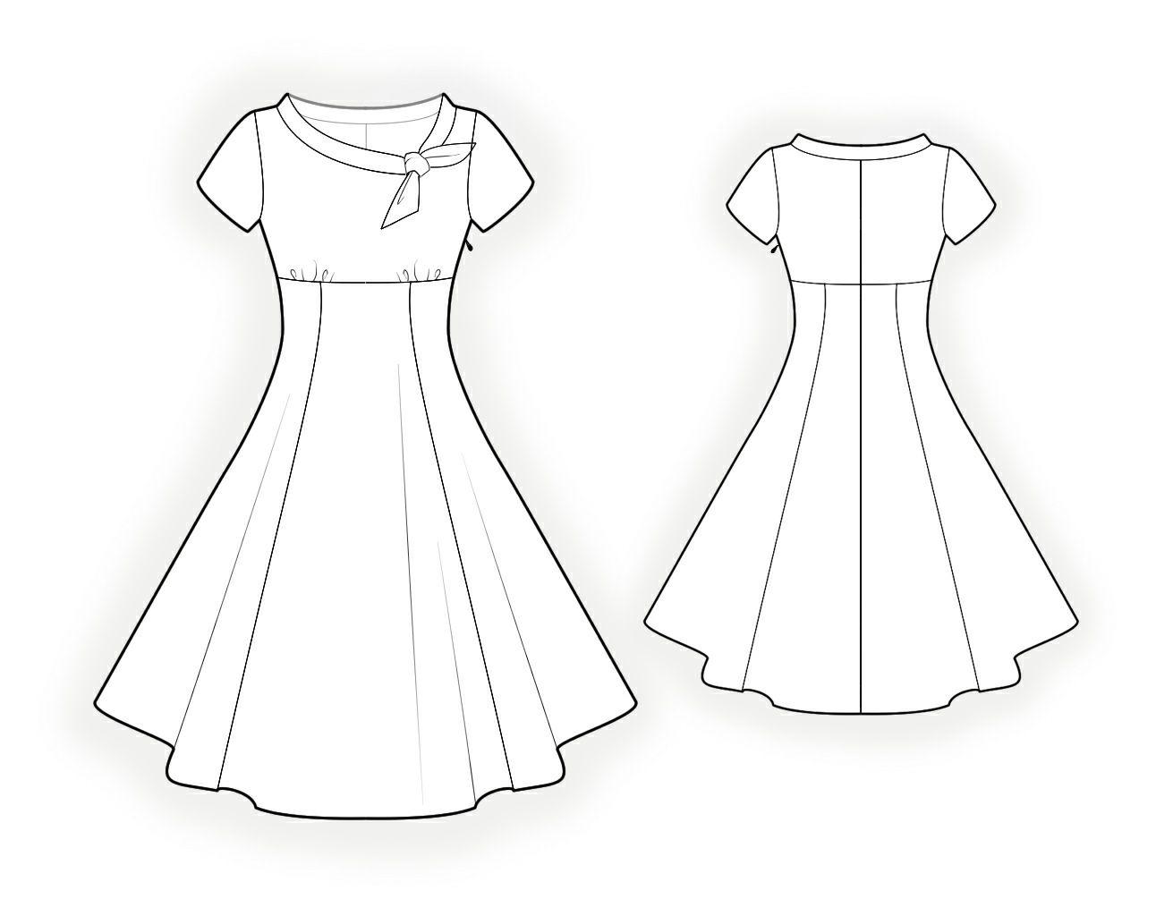 Kleid - Schnittmuster #4368 Maßgeschneiderte Schnittmuster von ...