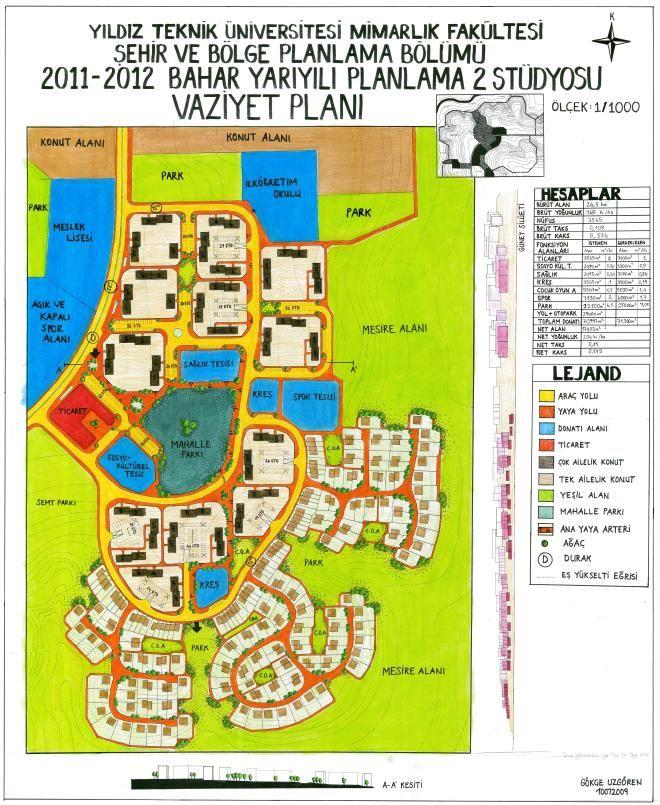 Proje 2 2011 2012 Kentsel Tasarim Plani Sehir Tasarimi Yerlesim Plani