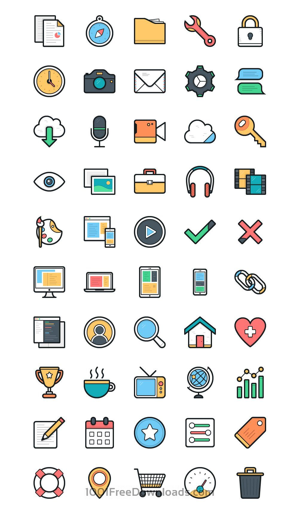 Remarkable List Of Latest Flat Vector Icons For Personal