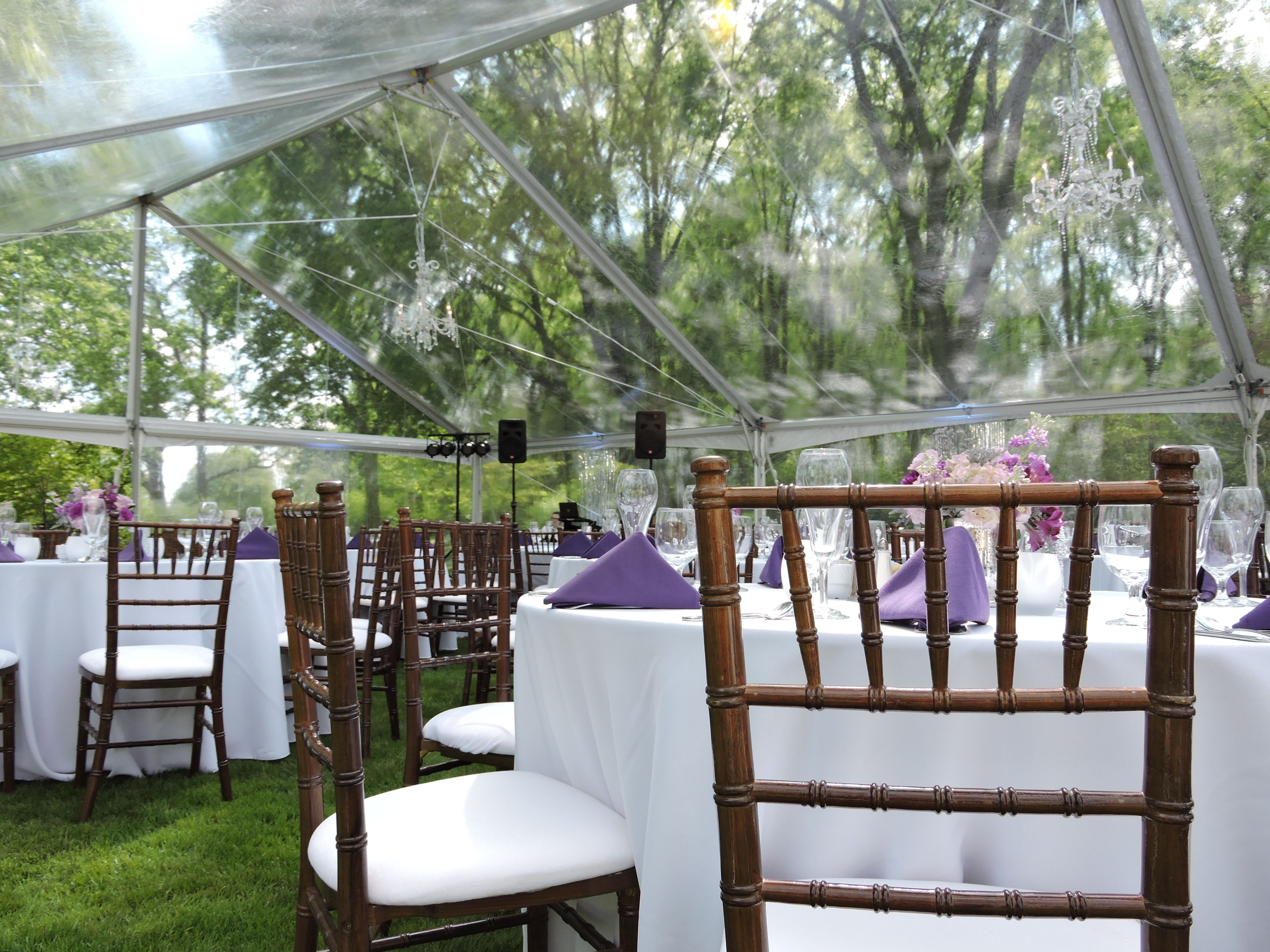 Beautiful outdoor wedding with clearspan tents mahogany