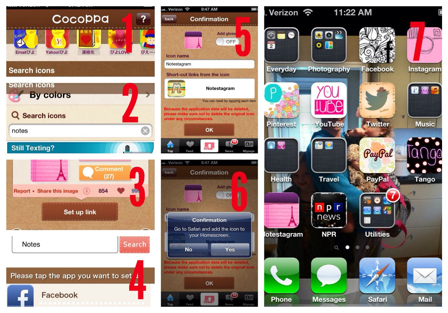Makeover Your Icons! 1. Download the Cocoppa app. FREE! 2