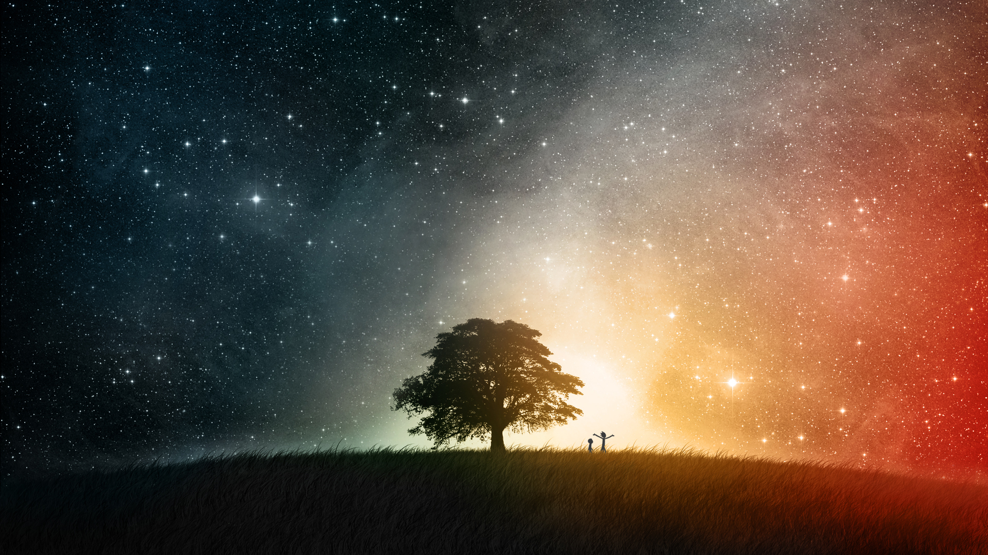 Rick and Morty and that space tree wallpaper. #Followme ...