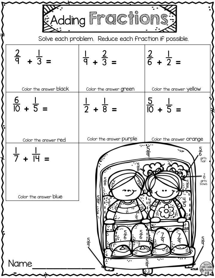 Grade 3 Fun Fractions Worksheets - Best Worksheet
