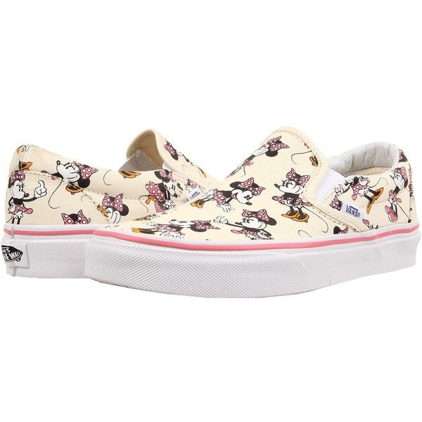 Vans Disney Classic Slip-On Minnie Mouse Classic White) Skate Shoes ... 0ec2442f2