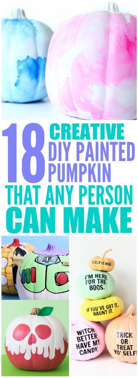 18 Creative DIY Painted Pumpkin Ideas #paintedpumpkinideas Another way to decorate your house with pumpkin is by painting it! Here are some great DIY painted pumpkin ideas for a no-mess Halloween or Thanksgiving! and what's great is you can do it together with your family! #pumpkinpaintingideascreative 18 Creative DIY Painted Pumpkin Ideas #paintedpumpkinideas Another way to decorate your house with pumpkin is by painting it! Here are some great DIY painted pumpkin ideas for a no-mess Halloween #pumpkinpaintingideascreative