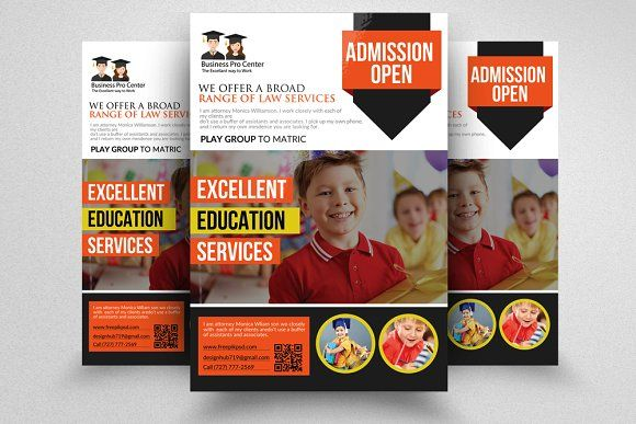 School Education Flyer Templates Flyer template, Psd templates and