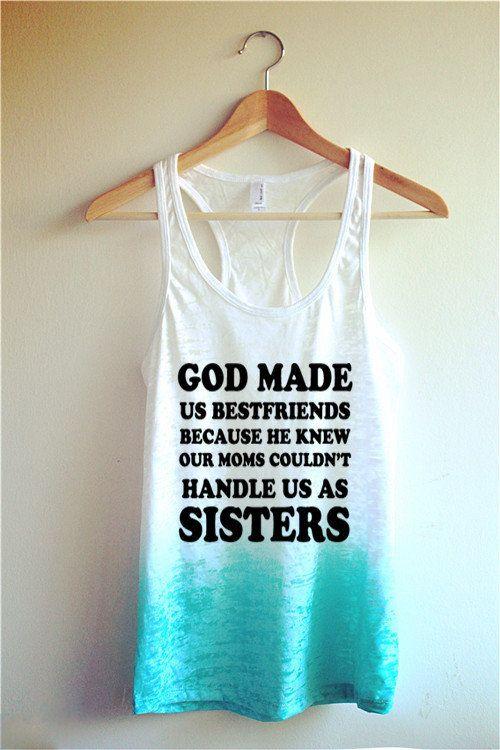 1d7e3261 God made us best friends Tie Dye Tank Top/ Best Friends Shirt @bellareiners