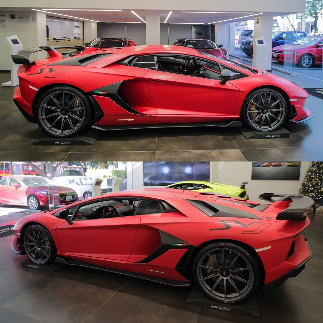The Lamborghini Aventador Svj Insane Angles Santa S Vehicle Joy