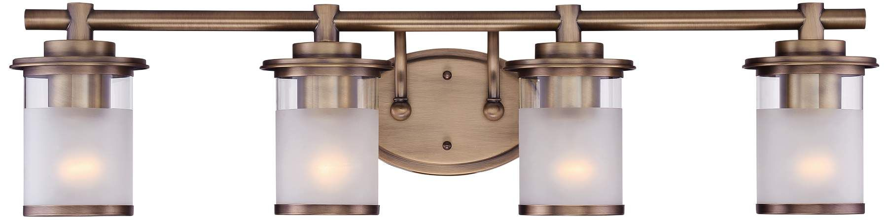 Photo of Essence 32 And One Half Inch Wide Satin Bronze 4 Light Vanity Bath Light