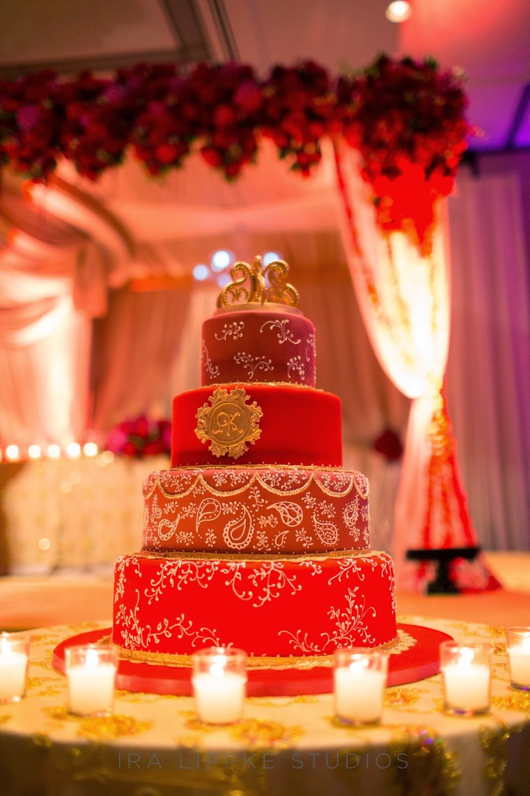 luxury birthday cake Indian colors indianweddingcakegreenwich