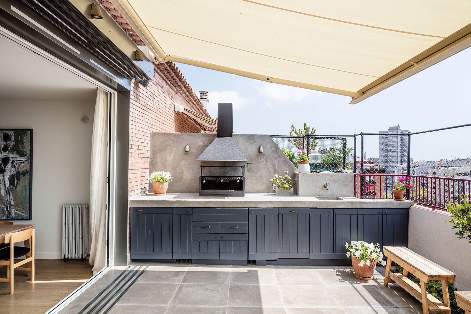 Cocina Americana Diseño De Balcón Diseño De Terraza Casas