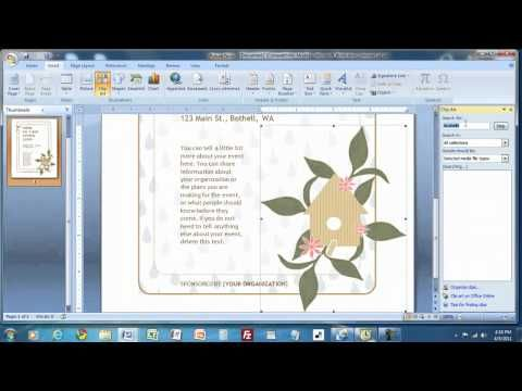 how to create a flyer in ms word for crafts business words