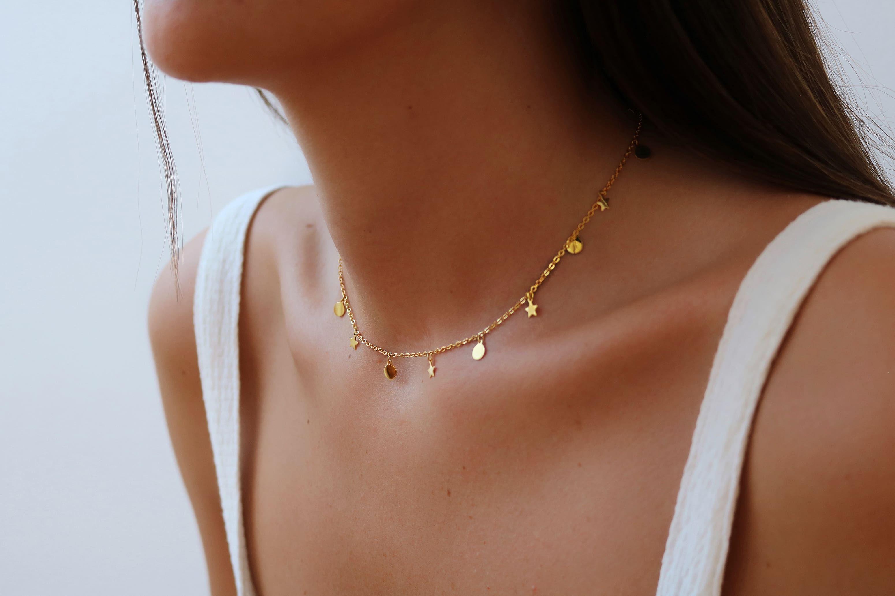 Collar Gargantilla Dashaira Estrellas Moda Gargantilla De Oro Gargantilla De Plata Collar De Moda
