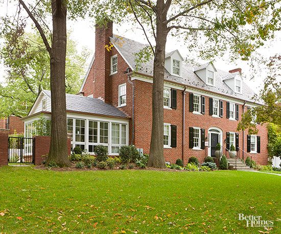 Colonial Style Home Ideas Brick Exterior House Colonial Exterior Colonial Style Homes