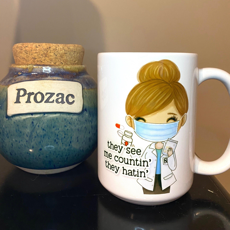 15 oz Handmade Coffee Mug / Personalized Pharmacist or