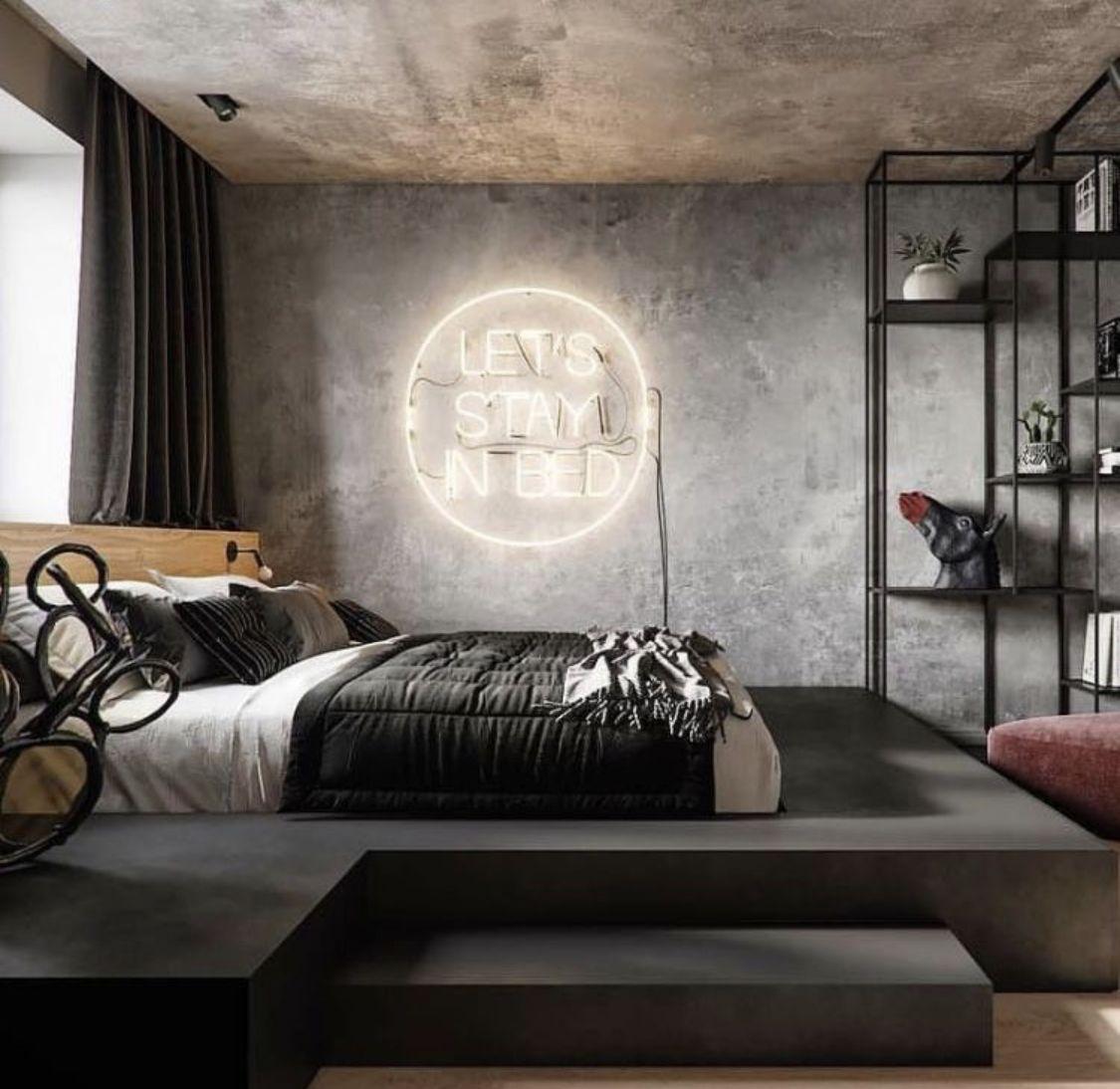 Pin By Bethany R On Design Bedroom In 2019 Bedroom Decor Bedroom Interior Industrial Bedroom Design Luxurious
