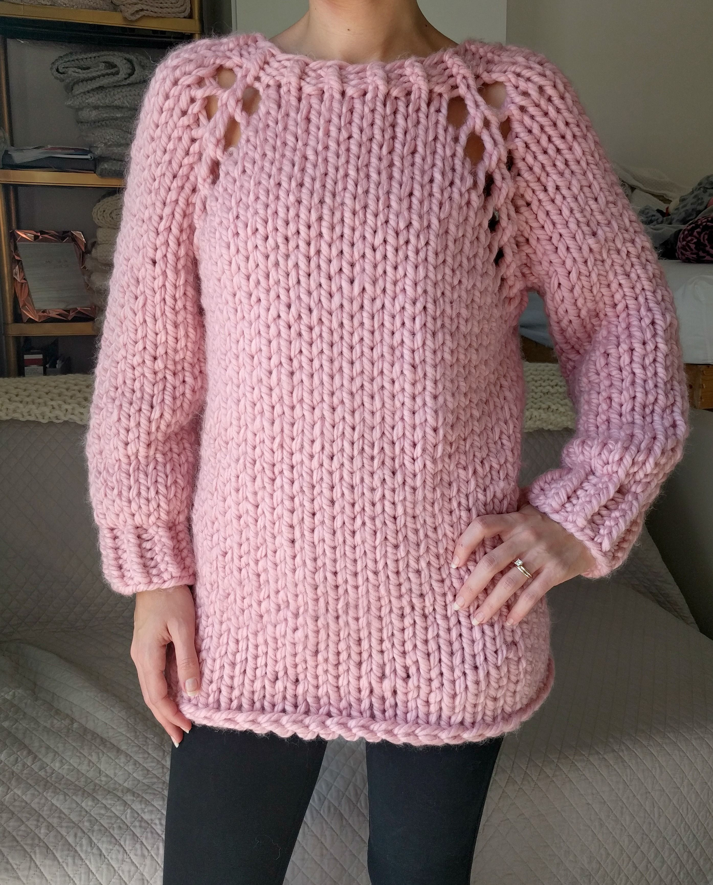 3ef01ab2b5a4f Chunky Knit Sweater Pattern from My GG.