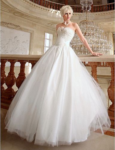 Ball Gown Sweetheart Floor-length Organza Wedding Gown #ShopSimple ...