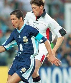 Argentina 2 (4)Inglaterra 2 (3) (Copa del Mundo Francia 1998,Stade Geoffroy-Guichard,Saint-Étienne,30/06/1998)
