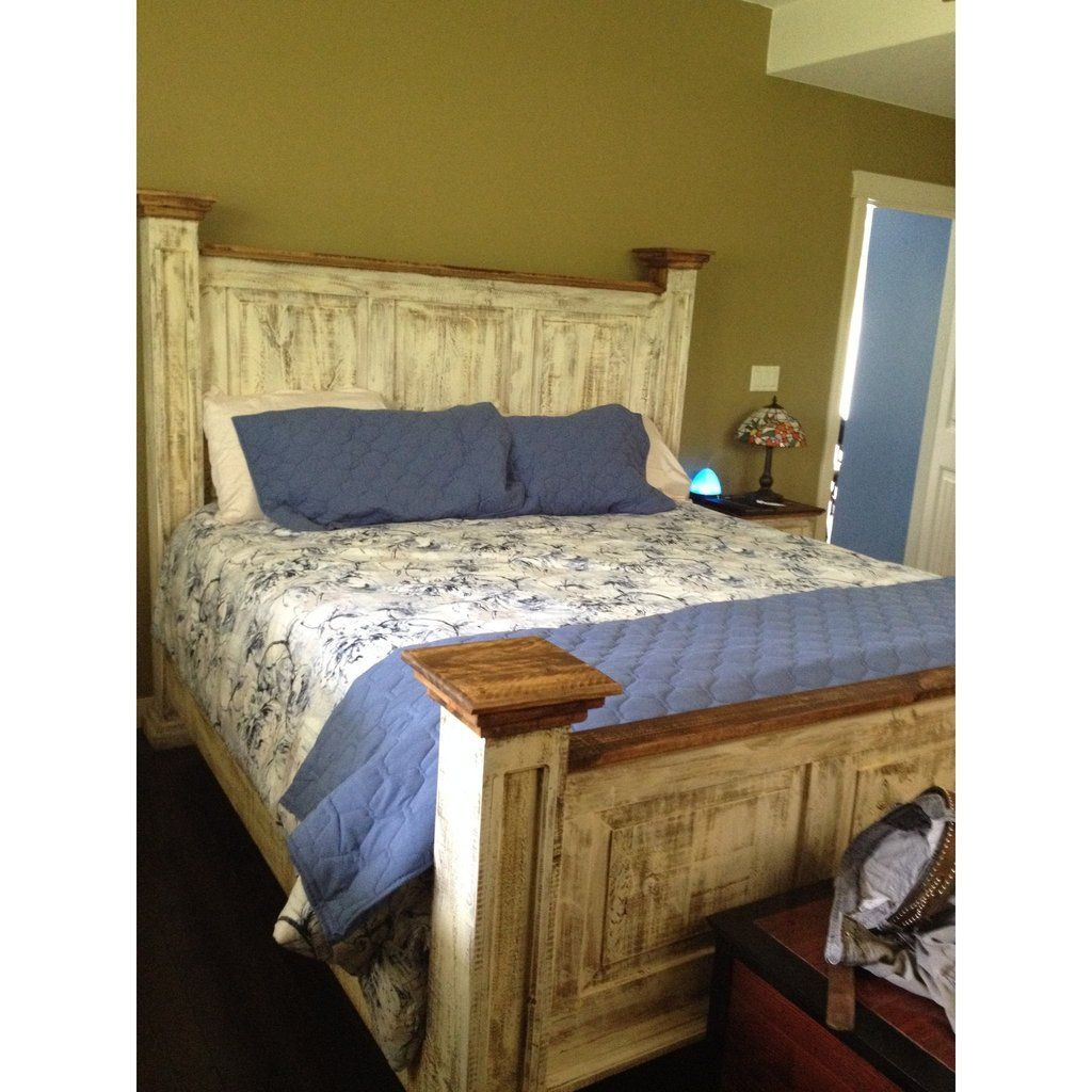 Santa Clara Queen Rustic Mexican Pine Bed Frame In 2020 With