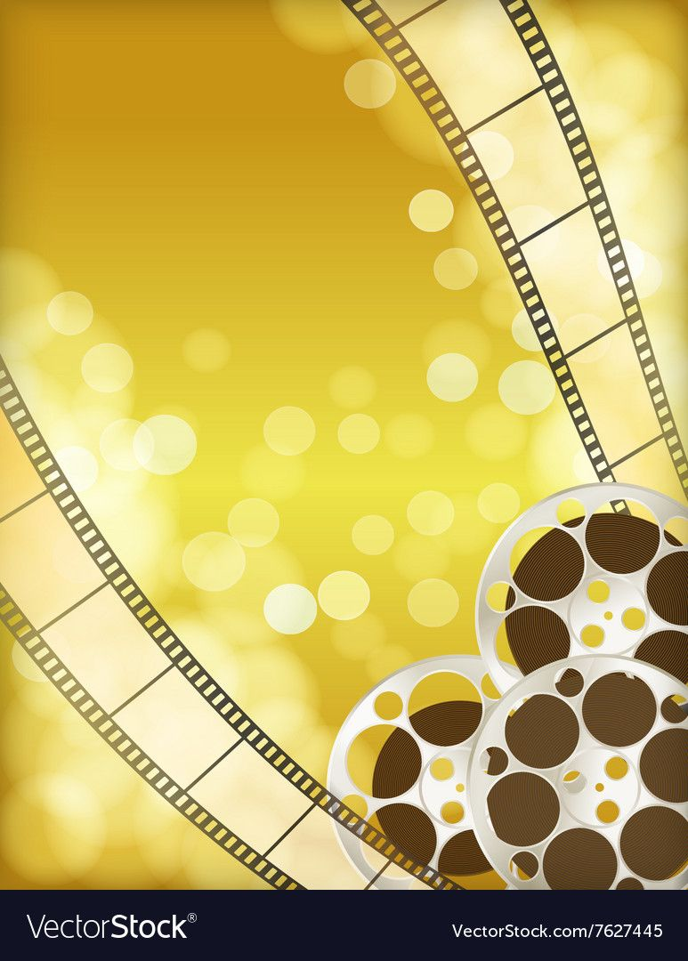 Cinema Golden Background Vector Image On Vectorstock Golden Background Pink Glitter Background Retro Camera